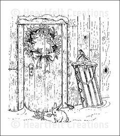 Heartfelt Creations   Festive Yuletide Doorway PreCut Set  $15.99