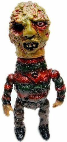Name: Zombie Freddy Platform: Blood Guts ToyArtist: Izumonster Manufacturer: Mutant Vinyl Hardcore Material: Sofubi
