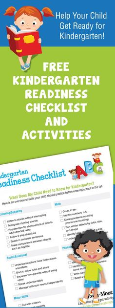 Kindergarten Readiness Checklist: What Does My Child Need to Know...