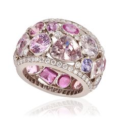 Multi Pink Sapphire Ring | William Noble Rare Jewels