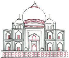 How to Draw the Taj Mahal in 5 Steps