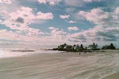 Mother's Beach, Kennebunk, Maine. The wind was blowing the sand across the beach. photograph by Geraldine Aikman