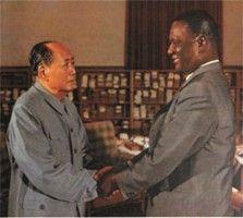 Chairman Mao & President Stevens in 1973 in China