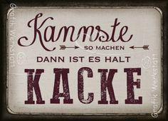Kannste so - Magnete - Grafik Werkstatt Bielefeld