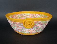 Sherbet, coiled fabric basket by JKTextileArts on Etsy https://www.etsy.com/listing/234286726/sherbet-coiled-fabric-basket