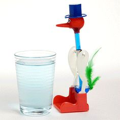 Drinking Bird - watch it go! Original Drinking Bird Toy at ComputerGear.com.