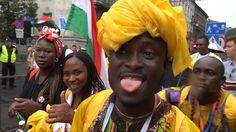 Światowe Dni Młodzieży 2016: uroczyste wejście delegacji Nigerii na krak...