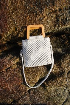 Macrame Bag, Diy Keychain, Diy Home Crafts, Crochet Projects, Clutches, Knit Crochet, Handbags, Knitting, Etsy