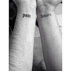 Pin for Later: 17 Mental Health Tattoos That Celebrate Your Journey to Recovery Past vs. Future Give yourself permission to let go of the past and focus on your bright future.