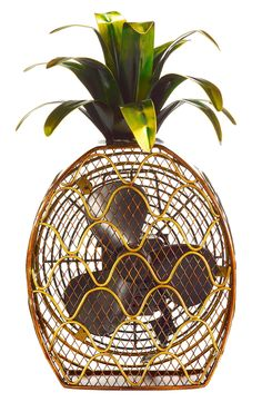 Let this charming Pineapple Shaped Decorative Figurine Fan brighten your day while it keeps you cool. With its decorative appeal, a Figurine Fan can easily become a permanent part of any desk, vanity, Home Design, Interior Design, Interior Decorating, My New Room, My Dream Home, Kitsch, Just In Case, Home Accessories, Sweet Home