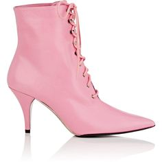 Calvin Klein Leather Lace-Up Ankle Boots In Rose Velvet Ankle Boots, Leather Lace Up Boots, Lace Up Booties, Lace Up Ankle Boots, Leather Ankle Boots, Ankle Booties, Pink Leather, Lace Up High Heels, High Heel Boots