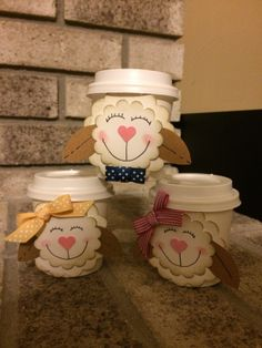 Lamb Mini Coffee Cup Designs  by Dianne at Delightful Designs