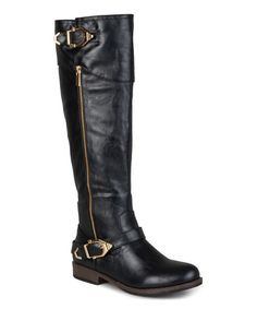 Just bought these boots on Zulily for $44. Look at this #zulilyfind! Black Beth Wide-Calf Boot by Journee Collection