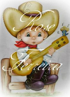 Mão Amiga Painting Words, Tole Painting, Fabric Painting, Fabric Paint Shirt, Precious Moments Coloring Pages, Cowboy Pictures, Painting Templates, Baby Drawing, Child Doll