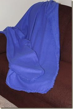 Nebraska Views: Easy No Sew Fleece Blanket Edging