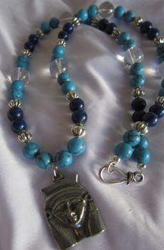 Hathor Goddess Rosary Necklace with Howlite by AdoreHerDesigns, $68.00