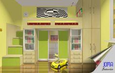 poschodové postele | detská izba - poschodové postele a skriňa