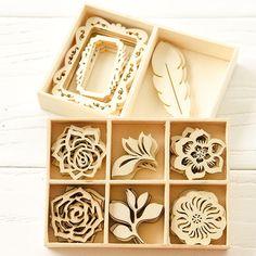 Wild for Wooden Embellishments Project by Christen Olivarez - Stampington