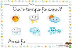 EL LIBRO DEL TIEMPO | Actividades infantil Weather Like Today, First Grade Science, Spanish Words, Preschool, Teaching, Frozen, Star, Animals, Kids Calendar