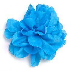 Flor de tela Celeste.