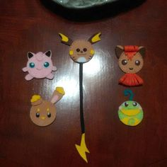 Felt pokemon magnets by KendralandCreations on Etsy