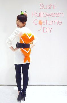 A DIY tutorial of how to make a sushi costume and headpiece for Halloween party. This is a fun and work appropriate costume to wear for work. I ended up winning best costume of the day in my department. Read more and learn how to make your own too!