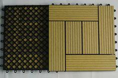 WPC DIY Deck Exterior Tile with Plastic Base 300mm*300mm