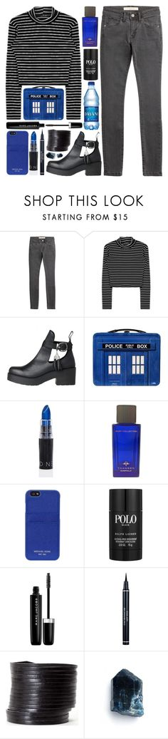 """Police Box"" by ladyvalkyrie ❤ liked on Polyvore featuring Burberry, Nevermind, Thameen, MICHAEL Michael Kors, Ralph Lauren, Marc Jacobs, Christian Dior and Linea Pelle"