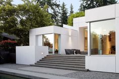 This 3,800 square foot mid century modern house was completely remodeled by SKB Architects. Completed in August 2013, it is located in Medina, Washington. Photos by Mark Woods