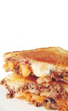 On the 8thday of Brisket, my true love gave to me... 1 Crock Pot Brisket Recipe, 2 Brisket + Egg Sandwiches,3 Fajita Brisket Sandwiches, 4BBQ brisket mac n cheesemelts, 5 Tropical TeriyakiBr...