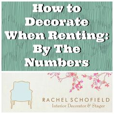 How to Decorate When Renting