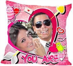 Almofada Dia dos Namorados Rosa