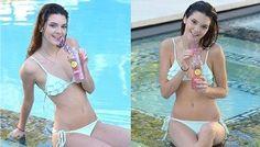 Kendall Jenner Blue Bikini