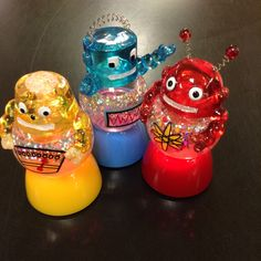 Awesome little snow-globes that light up!