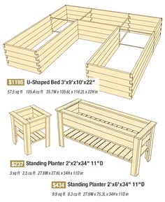 U shaped gardening raised bed / planter box. Wonder if we could modify the two we have & make it a U?
