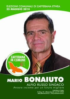 I nostri Candidati: Mario Bonaiuto #ZafferanainComune #AlfioRussoSindaco