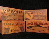 Vintage Lake Michigan Lure Boxes