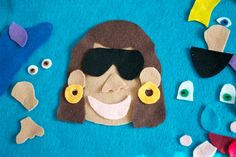 Felt faces  Quiet felt toy for flannel board or by CakeInTheMorn, $15.00