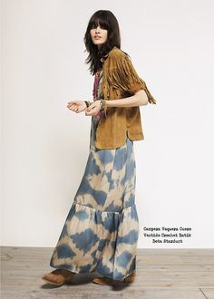 Rapsodia Maxi Dress And Fringe Jacket Hippie Chic, Hippie Style, Bohemian Style, Boho Chic, Boho Fashion, Spring Fashion, Fashion Outfits, Moda Boho, Maxi Styles