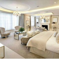 luxury bedroom design ideas for your dream house 31 Luxury Bedroom Design, Master Bedroom Design, Dream Bedroom, Home Bedroom, Bedroom Furniture, Luxury Master Bedroom, Interior Design, Master Suite, Modern Luxury Bedroom