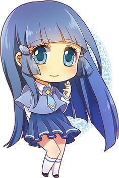 Me gusta este chibi porque es azul, ¡mi color favorito! / I like this chibi because she's blue, my favourite color!