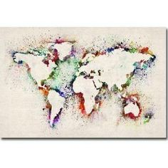 large world map canvas - Google Search