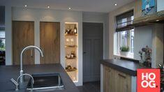 Keuken landelijke stijl met inbouwapparatuur