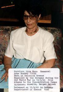 Greece, Lina Mano Emmanuel, a Holocaust survivor.