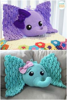 crochet elephant pattern You will love to make an Elephant Pillow Crochet Pattern and Josefina and Jeffery are crowd favorites. Check out all the ideas now. Elephant Cushion, Elephant Blanket, Crochet Pillow Patterns Free, Crochet Patterns Amigurumi, Crochet Elephant Pattern Free, Afghan Patterns, Square Patterns, Crochet Crafts, Crochet Projects