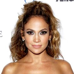 Tousled half up do...Jennifer Lopez