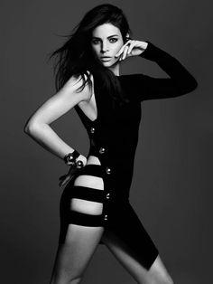 julia restoin roitfeld photos6 Back to Black: Julia Restoin Roitfeld Stars in Telva Shoot by Max Abadian