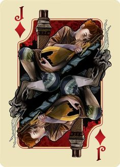 Kvothe in Tarbean from The Name of the Wind Art Deck