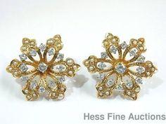 Kurt Goldschmidt Diamond 14K Gold Natural Seed Pearl Felger Pierced Earrings #KurtGoldschmidt