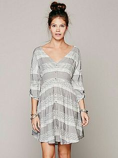 Black and White Striped Dress - Free People